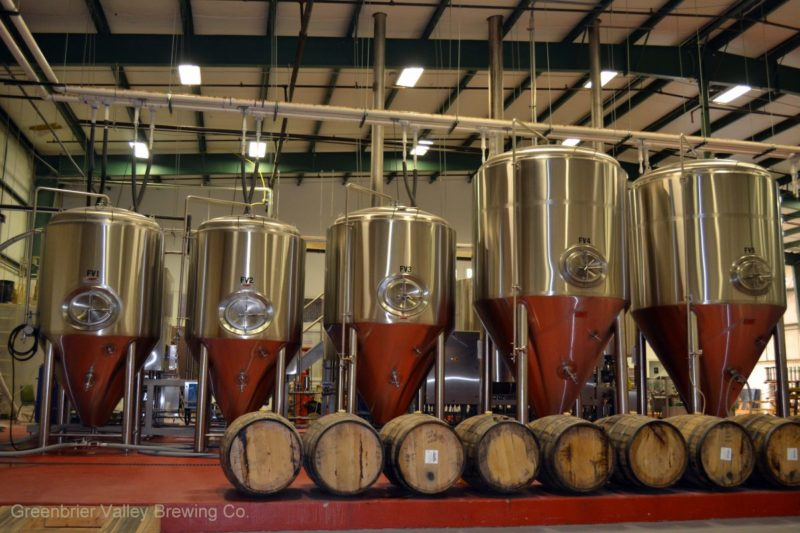 Kegs at Greenbrier Valley Brewing Co.