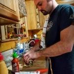 Jamie Riddle prepares ramp sushi