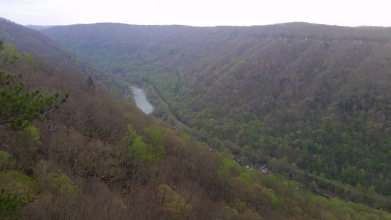 David Sibray visits rim of New River Gorge, centerpiece of national park