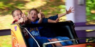 Children enjoy discounted rides at Camden Park