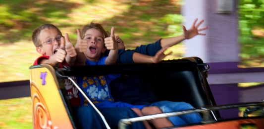 Children enjoy discounted rides at Camden Park