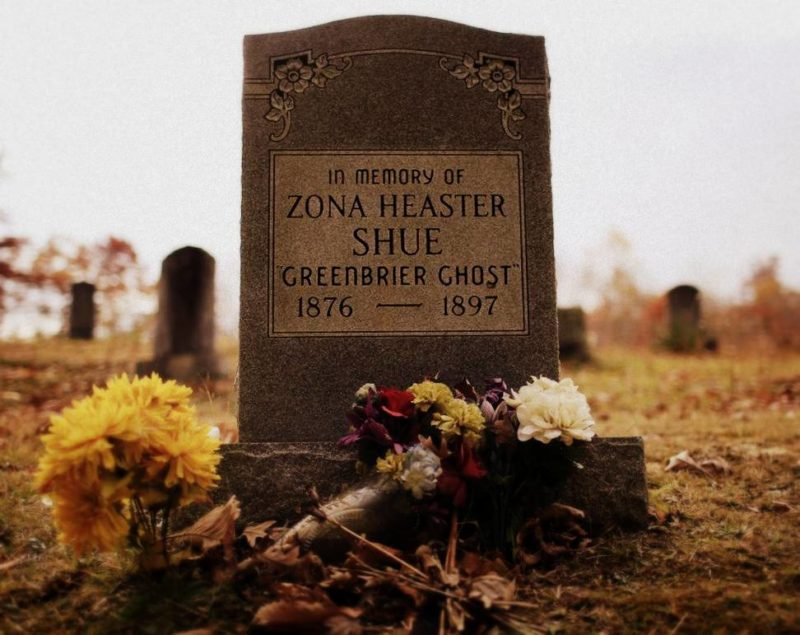 Grave of the Greenbrier Ghost, Zona Heaster Shue