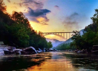 Sunset in the New River Gorge, New River Gorge National River, Wendy Parks Scott