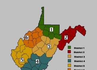 West Virginia DNR Districts