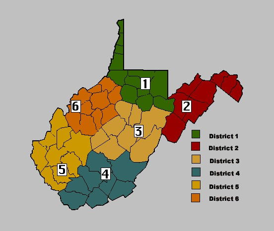 West Virginia DNR Districts