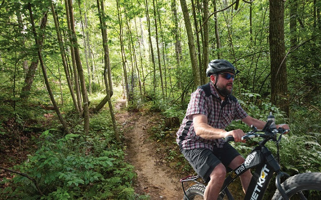 Gorge resort introduces electric-assist mountain bike adventures