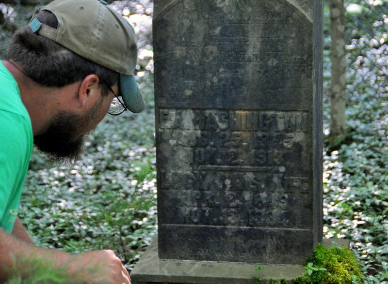 Alex Cole at Washington Grave
