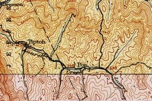 USGS Map 1913 Drennen Poe WV