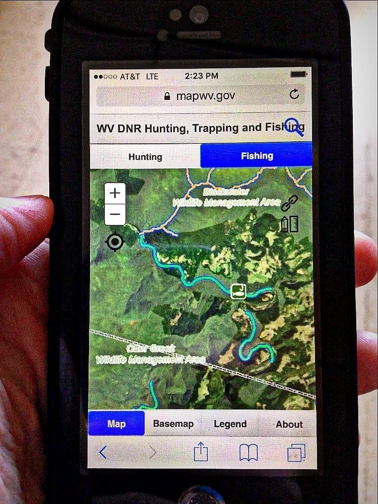 Redesigned interactive hunting and fishing map of West Virginia available