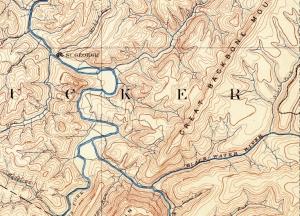 Backbone Mountain West Virgnia 1885