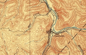 Historical map showing Centralia W.Va.
