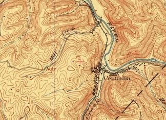 Historical map showing Centralia W.Va.