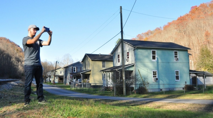 Kyle Bailey documents coal camp architecture in Helen, W.Va.