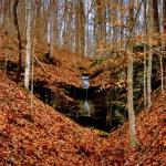 Falls at Woodrum Lake