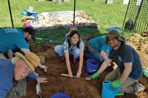 Americorps members assist at an archaeological site in West Virginia