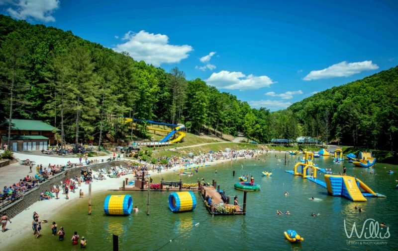Festival Goers At Ace Waterpark West Virginia Explorer