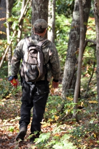 Gary Morefield scouting trails