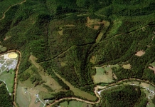 Aerial image of the Jug