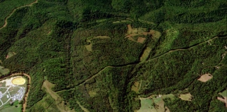 Aerial image of the Jug