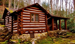 A log cabin for rent near Fayetteville, W.Va.