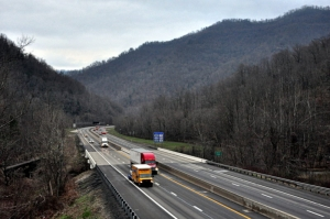 W.Va. Turnpike in valley of Paint Creek