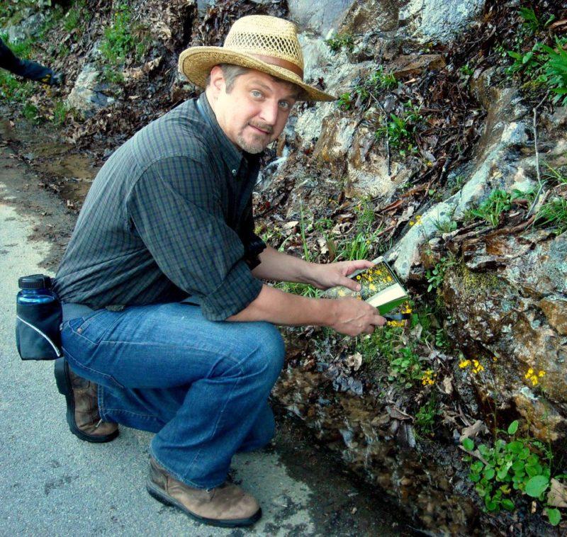 David Sibray at wildflower survey