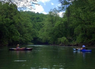 Kayakers float Coal River, expected to fill with more than a thousand kayaks June 16.
