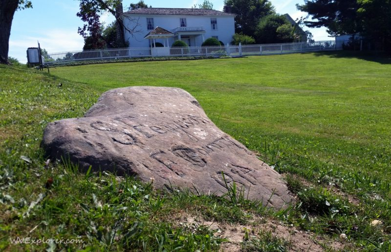 Ferguson's Rock, of unknown origin, is located on the lawn of Wildwood at Beckley, W.Va.