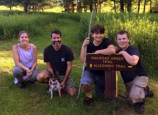Guests at Canaan Valley State Park make ready for a hike on one of the resort's many trails.