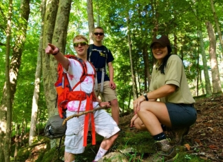 Adventurers participating in the Quest program gather at North Bend State Park.