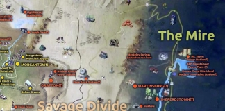 The Mire in the new Fallout 76 game appears to include West Virginia's panhandle region east of the