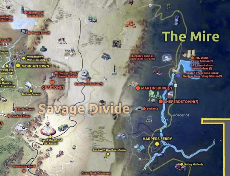 Mapping Fallout 76: John Barton explores The Mire
