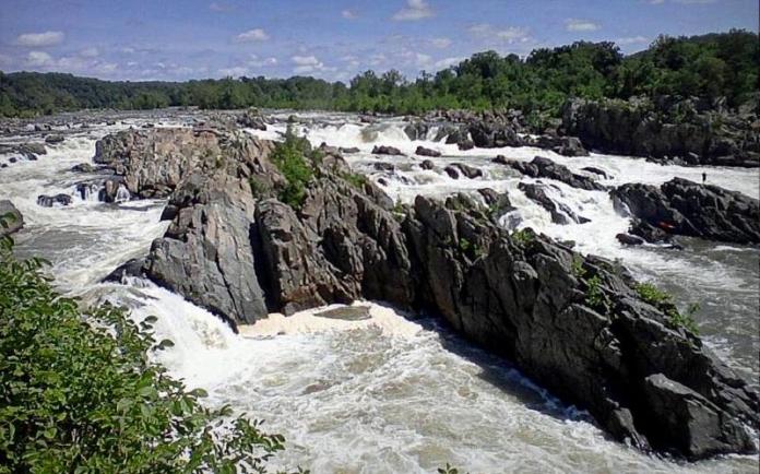 The Potomac River thunders though its Great Falls near Washington, D.C.