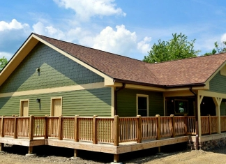 New cabin at Chief Logan State Park