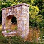 An old stone fountain near Slatyfork was built by the WPA.