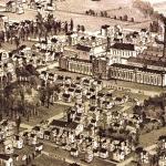 Detail from vintage illustration of Moundsville.