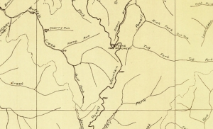 Young's Monument appears on a 1914 map of roads in Nicholas County.