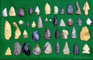 Arrowheads collect from through the eastern U.S. by Brad Morrow.