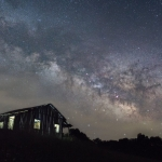 The Milky Way travels across the sky above Calhoun County.