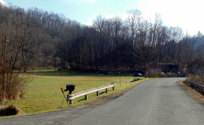The Catawba Mound rises in a bottom along the Monongahela River in Marion County.