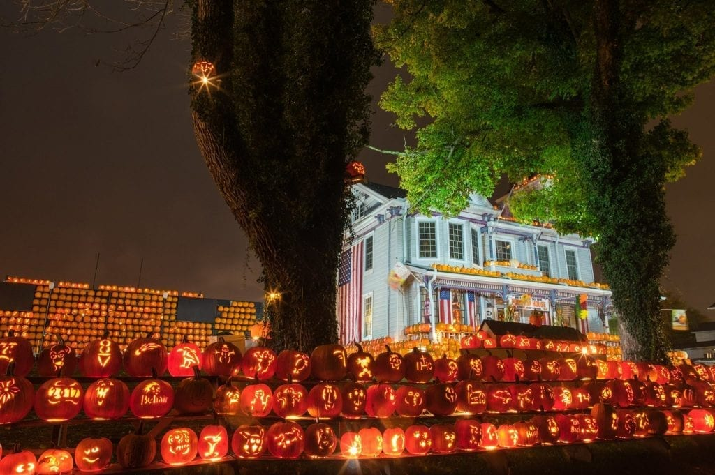 More than 3,000 pumpkins line the street at the Griffith House in Kenova.