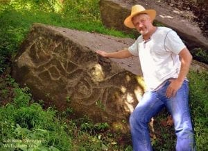 Carved by prehistoric hands, the Salt Rock Petroglyphs decorate rocks along the Guyandotte River.