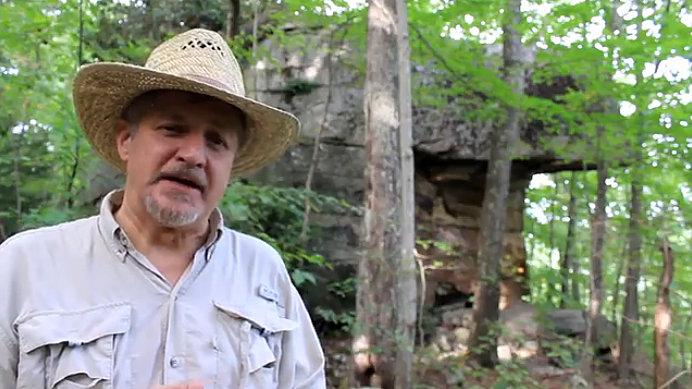 David Sibray visits Ship Rock near Beckley, WV