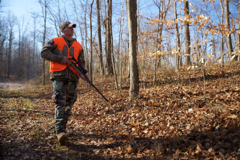 A young hunter enjoys the autumn season in West Virginia. Photo courtesy W.Va. Dept. of Commerce.