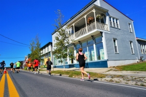 Runners hoof-it through the historic district at Davis, West Virginia (WV). Photo courtesy Tucker County CVB.
