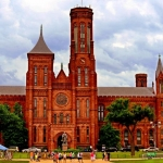 Selective symmetry is also employed in the Smithsonian Castle. Image from Destination360.com.