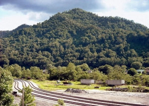 Armstrong Mountain is the legendary site of the Mount Carbon Stone Walls.