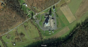 The Etam Earth Station receives radio signals near Etam, West Virginia, in Preston County. Google Map image.