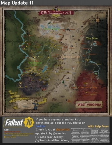 A second widely shared Fallout 76 map began to circulate in October 2018.
