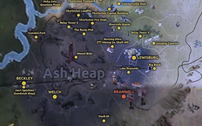 Mapping Fallout 76: John Barton explores The Ash Heap